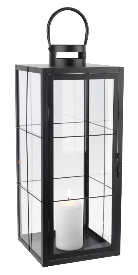 Lanterne VILLADS W20xL20xH50cm sort (149 DKK)