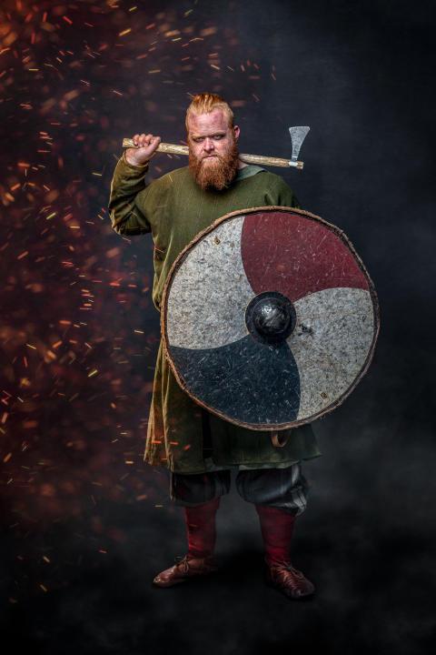 Vikingekriger Pressefoto Moesgaard Museum