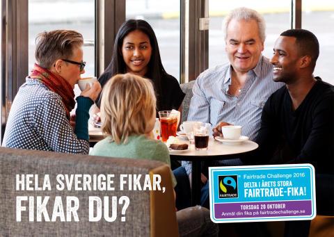 Över 4700 gävleborgare deltar i årets stora Fairtrade-fika