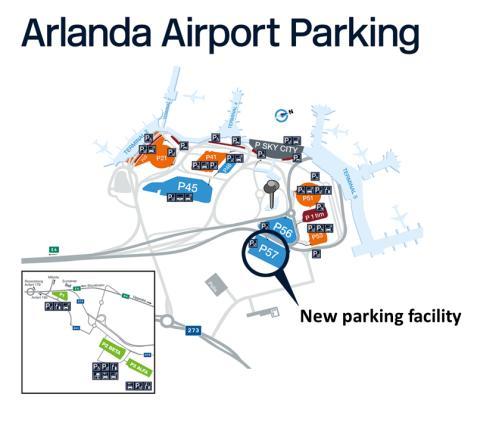 New parking facility close to terminal at Stockholm Arlanda Airport