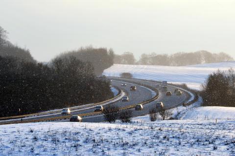 Motorvej - vinter