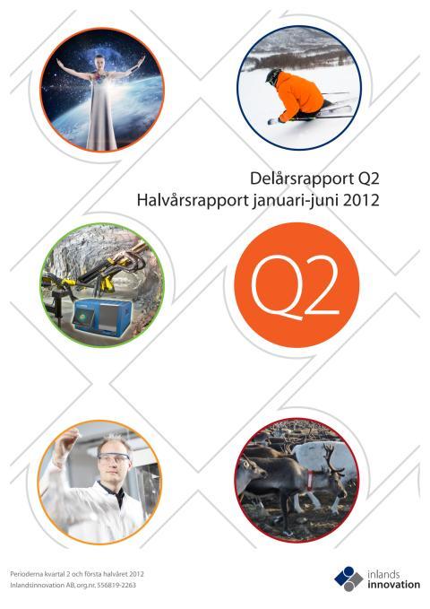 Inlandsinnovation delårsrapport Q2 och halvårsrapport 2012