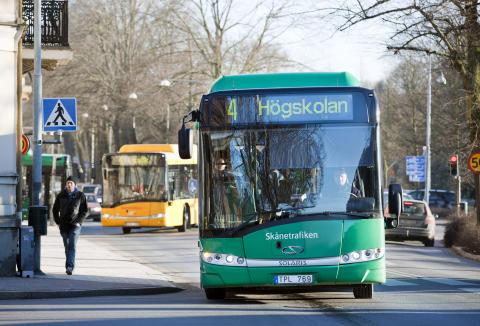 Kristianstad har Skånes bästa stadstrafik