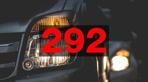292 trafikolyckor på E6 under 2017