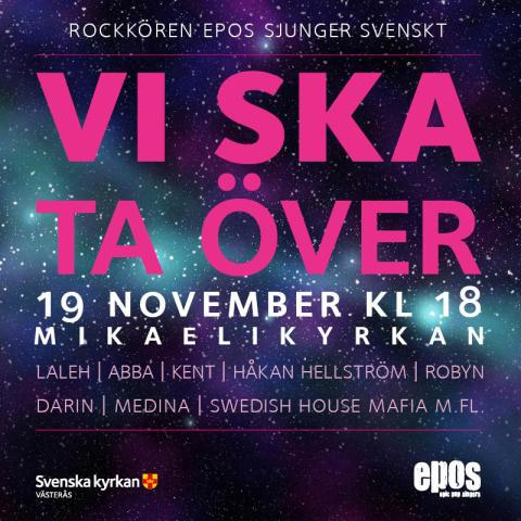 Rockkören EPOS sjunger svenskt