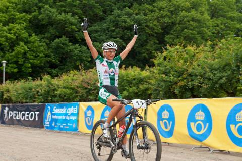 Jenny Rissveds vann junior-guldet vid MTB-SM