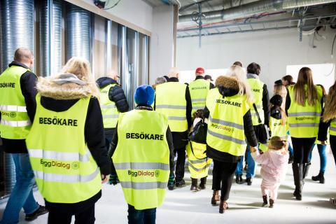 Välbesökt Öppet bygge på Trönninge skola och idrottscentrum