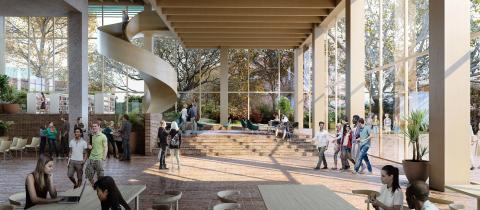 Förslag HIMLAJORD, arkitekttävling universitetsbiblioteket