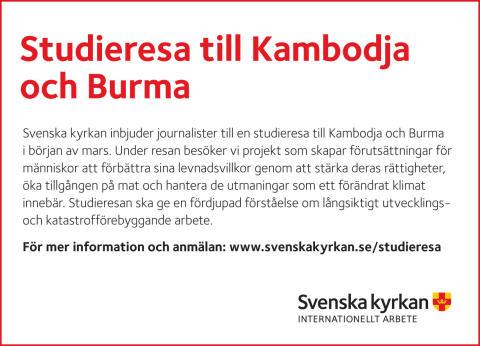 Journalistresa till Kambodja och Burma