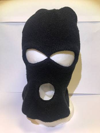 Balaclava found in car