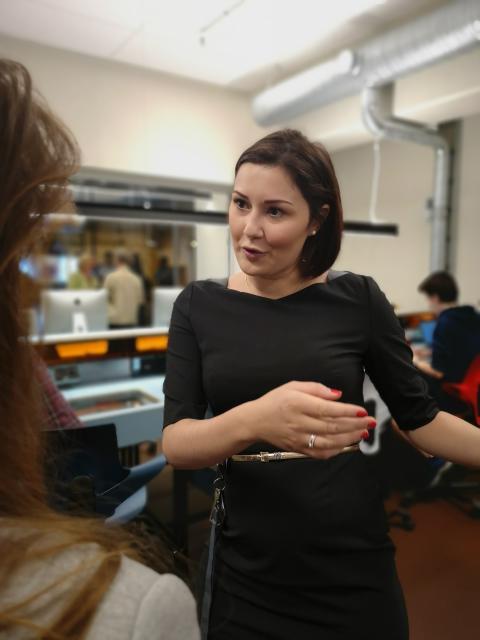 Safina de Klerk, leder av talentsenteret ved Oslo vitensenter, Teknisk museum