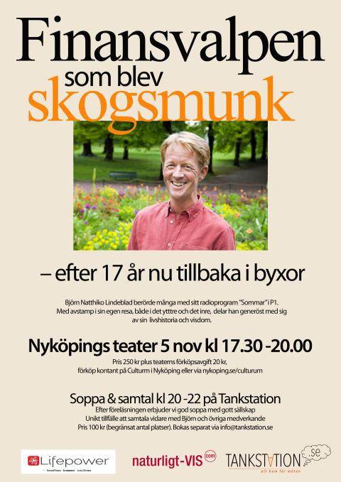 Björn Natthiko Lindeblad gästar Nyköpings Teater