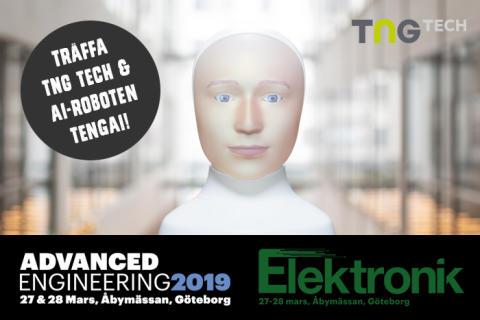 Träffa TNG Tech och rekryteringsroboten Tengai på Advanced Engineering & Elektronikmässan!