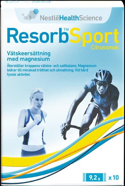 Resorb Sport – det senaste inom vätskeersättning