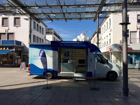 Beratungsmobil der Unabhängigen Patientenberatung kommt am 25. September nach Saarlouis.