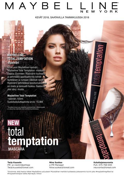 Maybelline Total Temptation -maskara