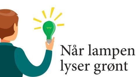 Når lampen lyser grønt