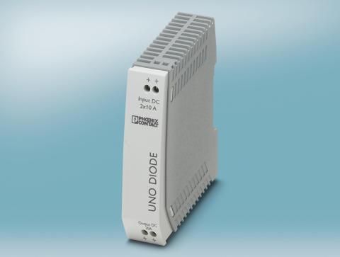 Smal diode til afkobling af redundante strømforsyninger