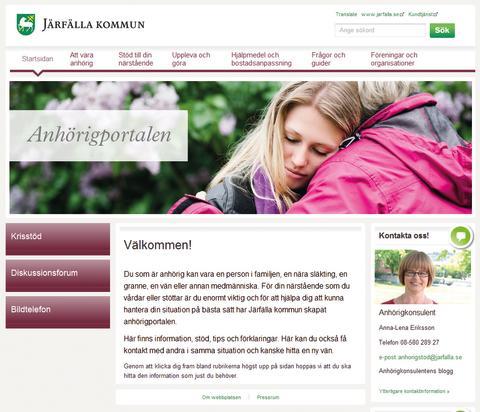 Järfälla kommuns webbplats för anhöriga nominerad till GötaPriset