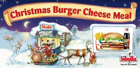 Dubbelburgare gör sällskap med julklassiker i Sibyllas decemberkampanj