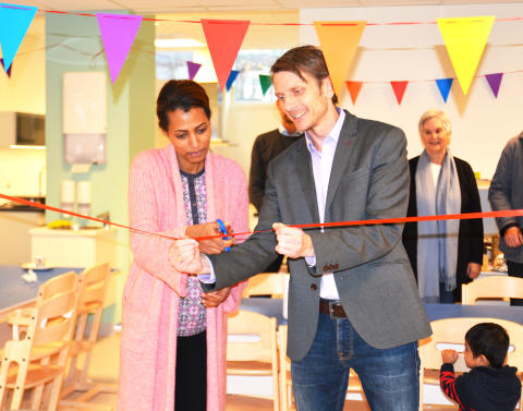 Snorklipp for ny Åpen barnehage på Haugenstua Torg