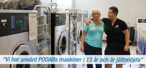 Textiltvätten i Hässleholm använder PODABs tvättmaskiner