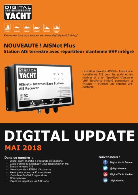 Newsletter Mai 2018 Digital Yacht - Nouveaux produits et solutions