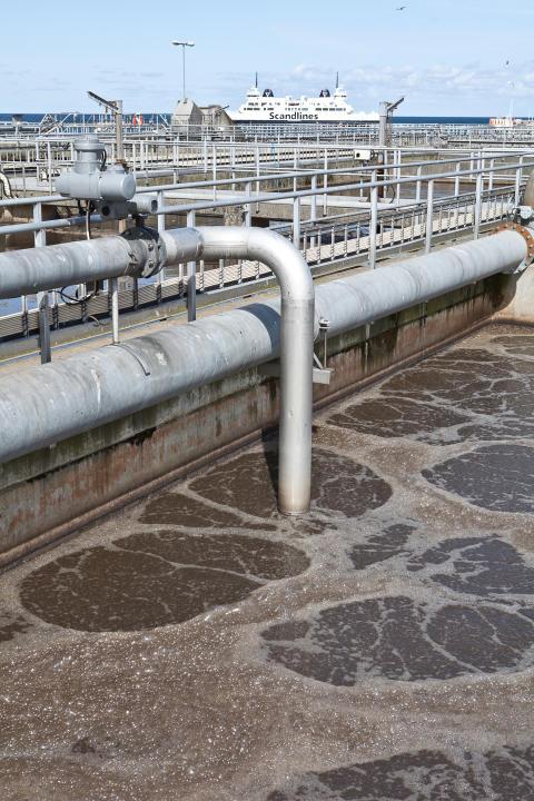 NSVA testar avgasning av slam för ökad reningskapacitet