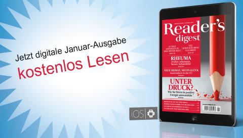 Zeitschrift Reader's Digest auf dem Smartphone oder Tablet lesen