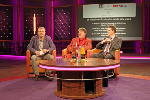 """v.l.: Thomas Tenzler, Peter Degner und Jörg Zeißig stellen die neue Veranstaltungsreihe """"P.D. Spotlights"""" vor"""
