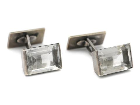 Moderna 13/9, Nr: 128, WIWEN NILSSON, manschettknappar, sterlingsilver, bergkristaller