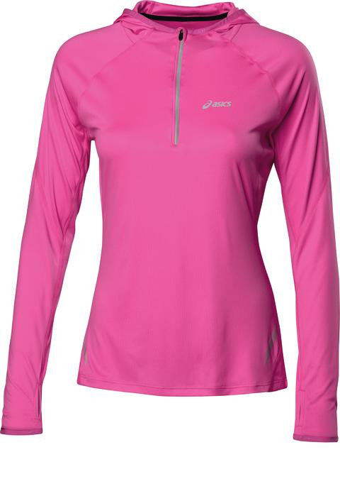 ASICS W'S LS ½ ZIP HOODY_Knockout Pink_SS14_110577_0273