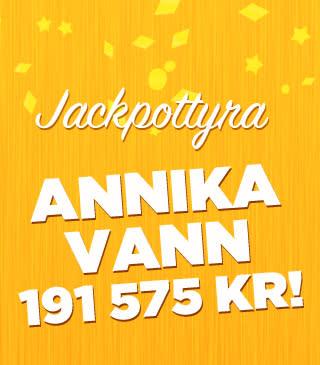 Annika från Gotland vann 177 935 kronor på bingojackpott hos Miljonlotteriet!