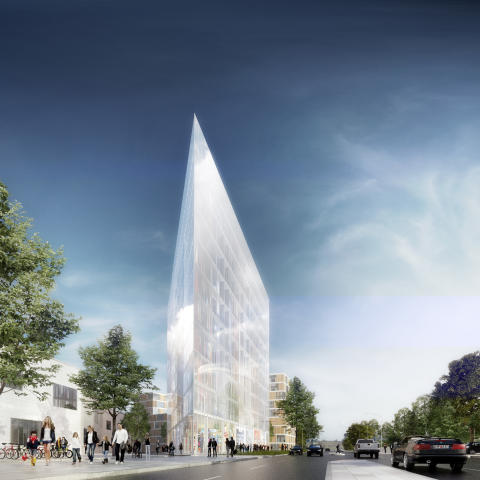 Markförsäljning i Hyllie ska ge Malmö en Flatiron Building