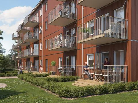IKEAs och Skanskas BoKlok säljer 36 lägenheter i Älmhult