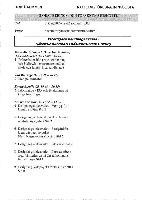 GF 091222 - KALLELSE OCH MISSIV