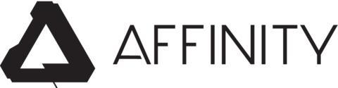 Affinity brand logo landscape for print