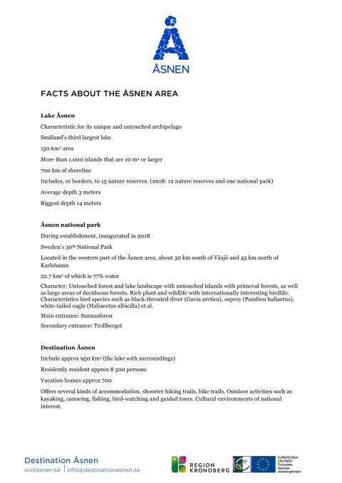Fakta om Åsnen