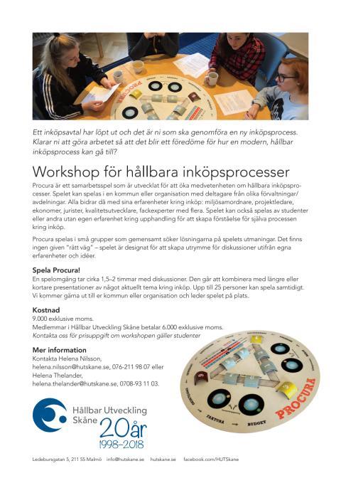 Workshop om hållbara inköpsprocesser