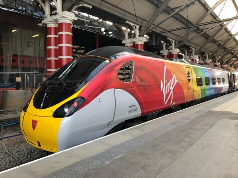 Virgin Trains #RideWithPride train