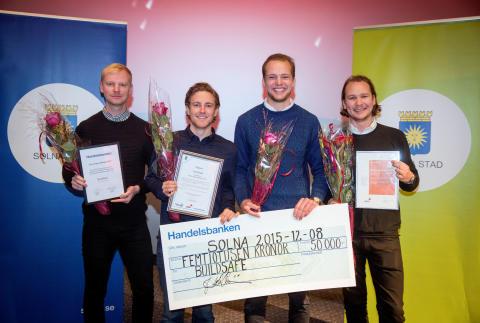 BuildSafe tilldelas Årets unga affärsidé 2015
