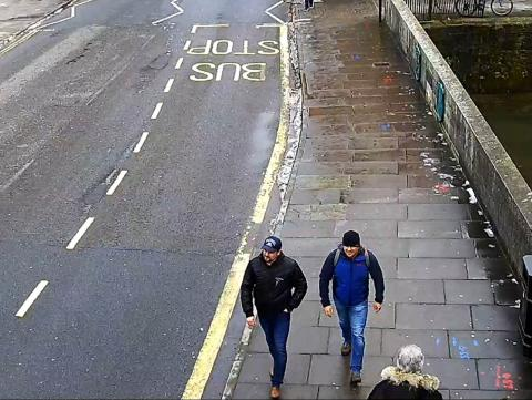 CCTV6 = image of both suspects on Fisherton Road, Salisbury at 13:05hrs on 04 March 2018