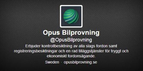 @OpusBilprovning – Nu finns vi på Twitter!