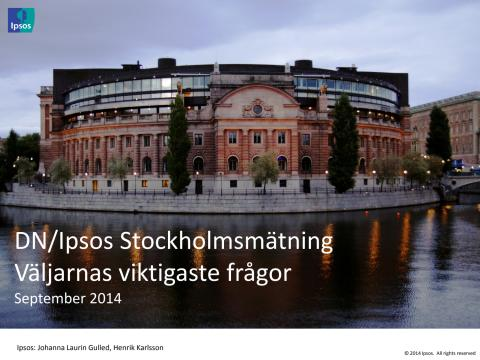 DN/Ipsos Stockholmsmätning september 2014 - Väljarnas viktigaste frågor