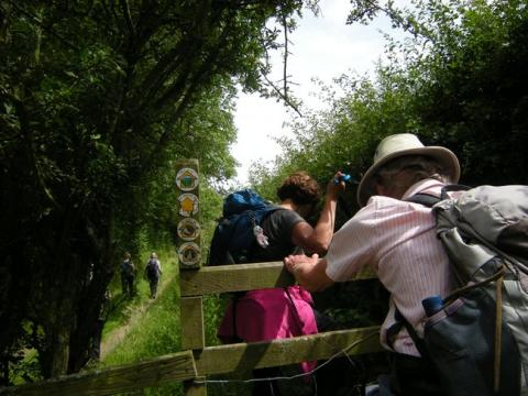 Memories of a great day in July:  Walking the new Heart of Wales Line Trail