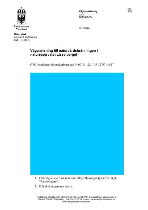Väganvisning Lisselberget