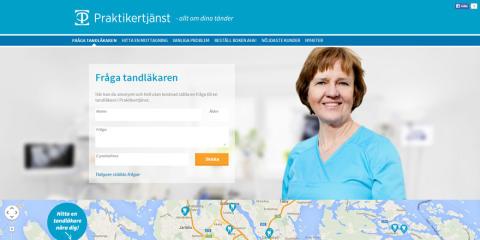 Praktikertjänsts webbplats alltomdinatander.se ännu bättre för besökaren