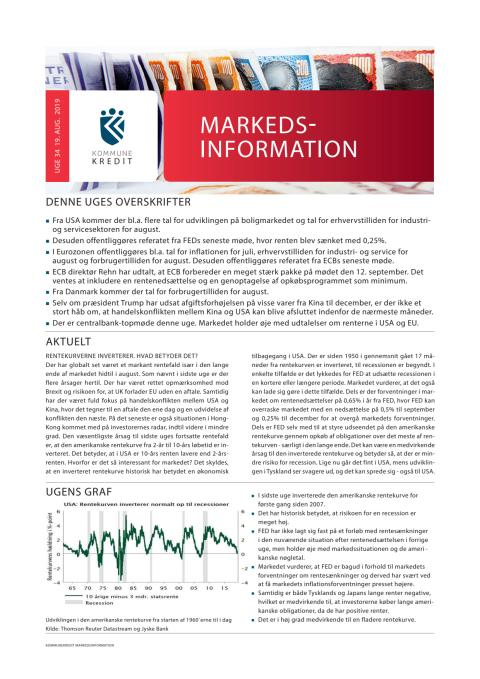 Markedsinformation 19. august 2019