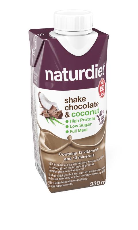 Naturdiet shake chocolate & coconut
