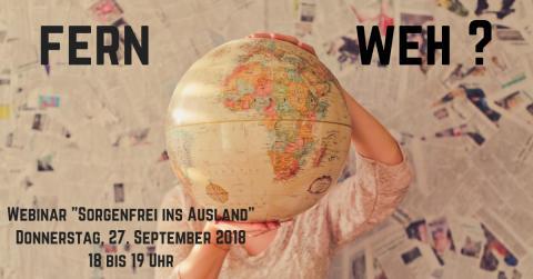 """Amsterdam, London oder New York? Webinar """"Sorgenfrei ins Ausland"""""""
